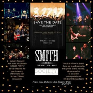 Hire corporate wedding band Anaheim CA - SMITH country band
