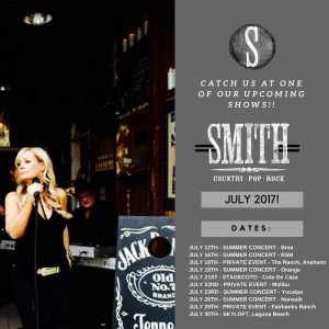 Orange County Country Band SMITH summer concerts 2017